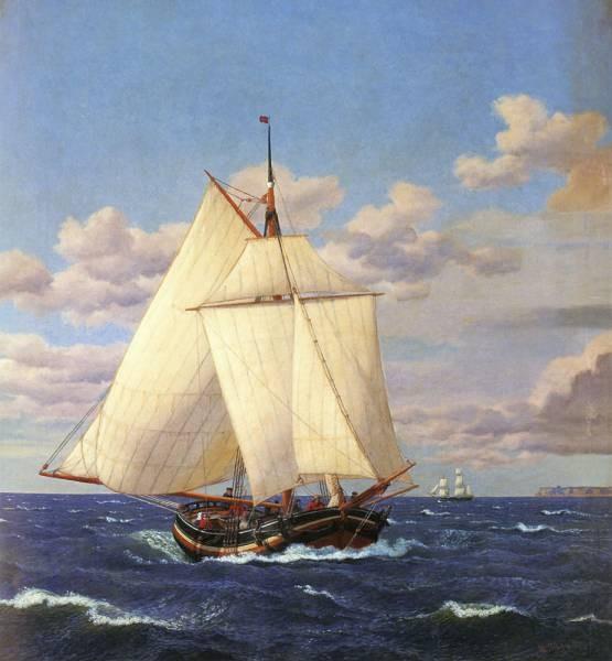 En Dansk Yacht Passerer Stevns